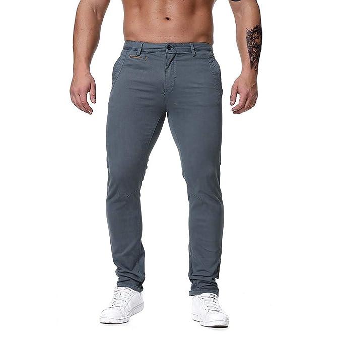 GNYD Pantalones Cortos Hombre Deporte Vaqueros Algodon ...