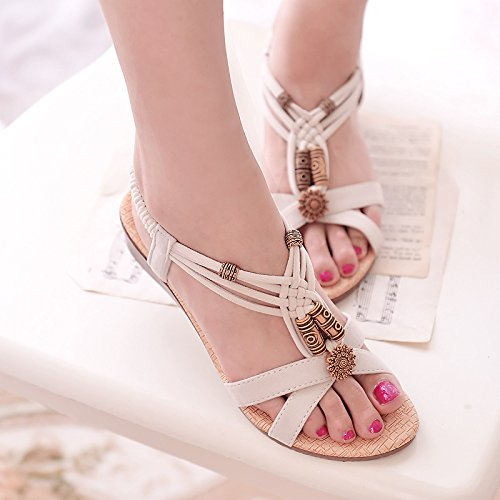 Zapatos Sandals Rice De Playa De white Verano p0UOqP0