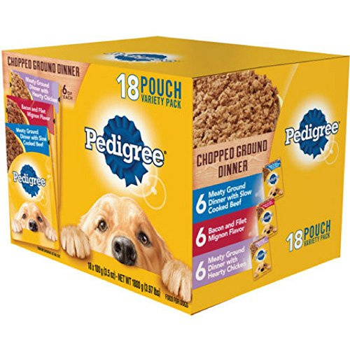 Pedigree Chopped Ground Dinner 18 Pouch variety Pack, Mignon (1)