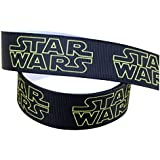 2m x 22mm New STAR WARS Black & Yellow GROSGRAIN RIBBON FOR BIRTHDAY CAKES WRAPPING CARDS by Pimp My Shoes