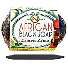 #1 TOP African Black Soap 5 OZ - (100% NATURAL Beauty Bar) Dudu-Osun - for Acne Scars, Dry Skin, Rashes, Scar Removal, Face & Body Wash