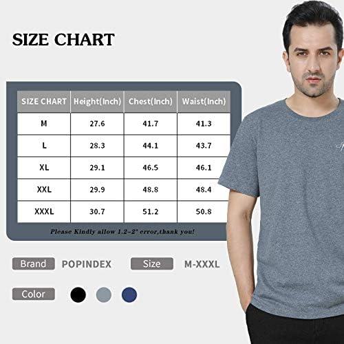 51XfEsqwedL. AC POPINDEX T Shirts for Men Short Sleeve Tee Undershirt (100% Cotton)    Product Description
