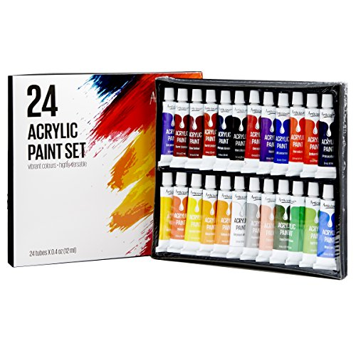 Tube Acrylic Paint Set Stretched