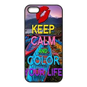 Color your life DIY Case for Iphone 5,5S, Custom Color your life Case
