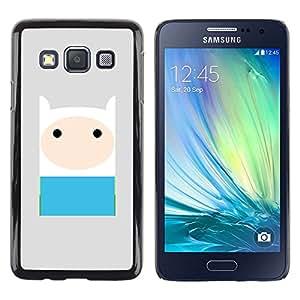 Caucho caso de Shell duro de la cubierta de accesorios de protección BY RAYDREAMMM - Samsung Galaxy A3 SM-A300 - Blue Grey Cute Sweet