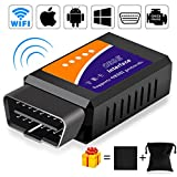 OBD2 Scanner, UBRU UPDATED OBDII Car Diagnostic Tool Scanner Engine Error Code Check Wireless WiFi Car Diagnostic Scanner Engine Light Diagnostic Tool Date Feed To iOS Android Windows Devices