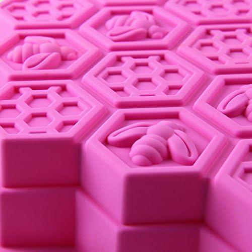 Moldes de Pastel//reposter/ía//pan//hielo de panal de abeja moldes para hornear silicona molde alimentos anti adhesiva color Random