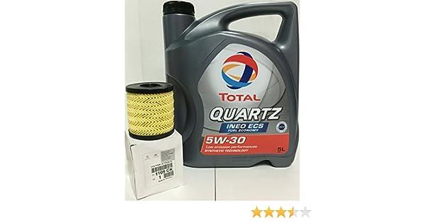 DUO Aceite Total Quartz Ineo ECS 5W-30 y filtro de aceite Original 1109CK: Amazon.es: Coche y moto