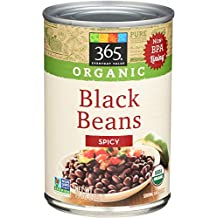 365 Everyday Value, Organic Black Beans Spicy, 15 Ounce