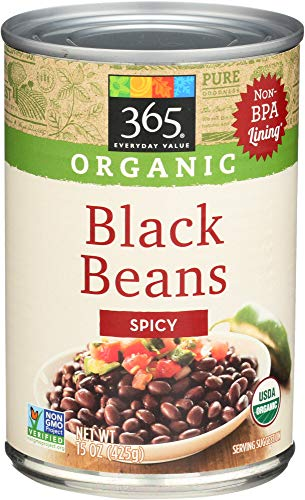365 Everyday Value, Organic Black Beans, Spicy, 15 oz