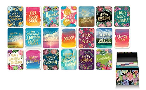 - Studio Oh! Boxed Set of 20 All-Occasion Greeting Cards with Stickers Available in 4 Different Assortments, Succulent Paradise