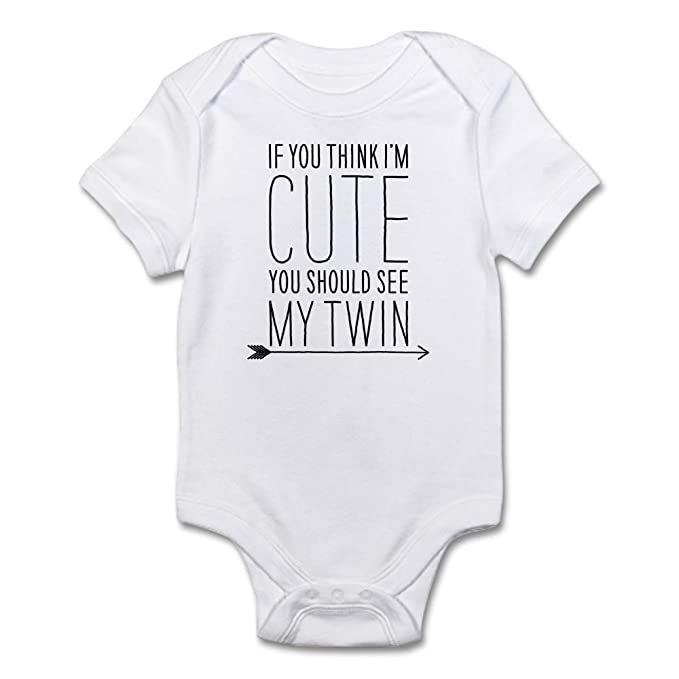 96e0f35c1 CafePress - If You Think Im Cute (Right Arrow) Body Suit - Cute ...