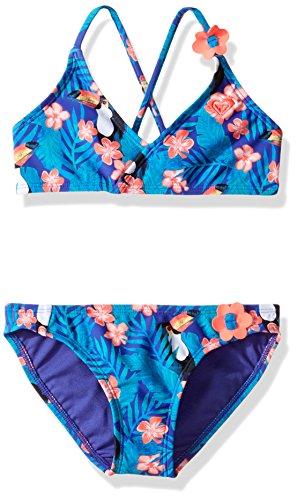Roxy Little Girls' Tropics Athletic Set Two Piece Swimsuit, Toucan Tango New Royal Blue, 6