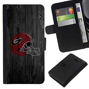 A-type (Gladiador Equipo deportivo) Colorida Impresión Funda Cuero Monedero Caja Bolsa Cubierta Caja Piel Card Slots Para Sony Xperia M2