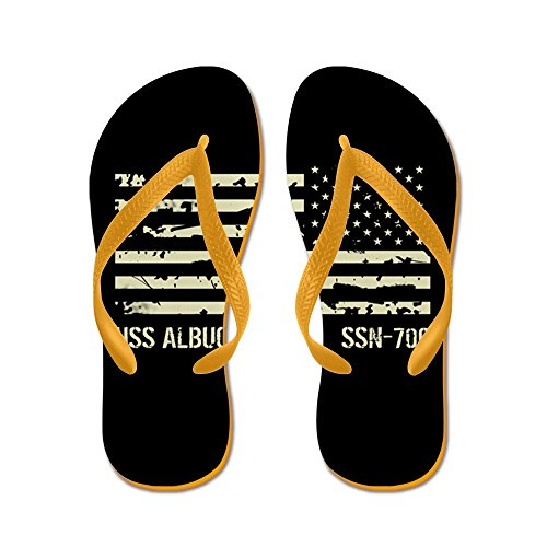 CafePress USS Albuquerque - Flip Flops, Funny Thong Sandals, Beach Sandals Orange