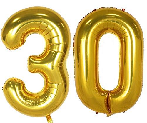 Tellpet Gold Number 30 Balloon, 40 Inch]()