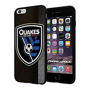 "Soccer MLS SAN JOSE EARTHQUAKES SOCCER CLUB FOOTBALL FC Logo, Cool iPhone 6 Plus (6+ , 5.5"") Smartphone Case Cover Collector iphone TPU Rubber Case Black"