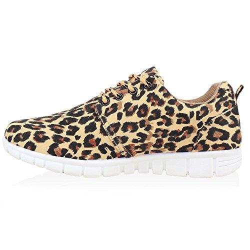 Sportschuhe Leopard Laufschuhe Unisex Damen Herren Übergrößen Flandell Stiefelparadies w0xt4znSw