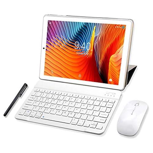 chollos oferta descuentos barato Tablet 10 Pulgadas YOTOPT 4GB de RAM y 64 GB de Memoria 4G LTE Tableta Android 9 0 Certificado por Google GMS Dobles SIM y TF GPS WiFi Soporte Oro