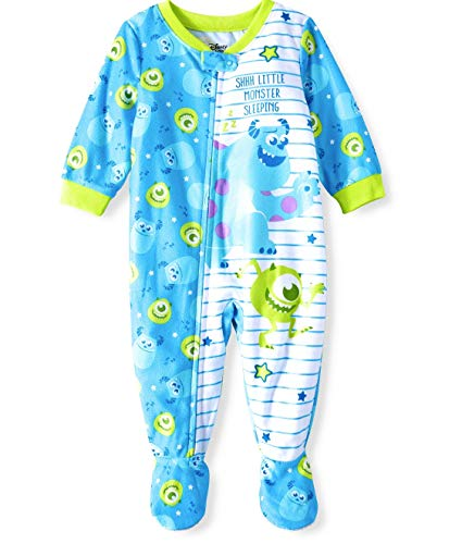 Monster's Inc, Microfleece Footed Blanket Sleeper Baby Boys (9 Months) Blue -