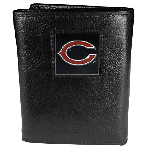 NFL Chicago Bears Genuine Leather Tri-fold Wallet (Chicago Bears Wedding)