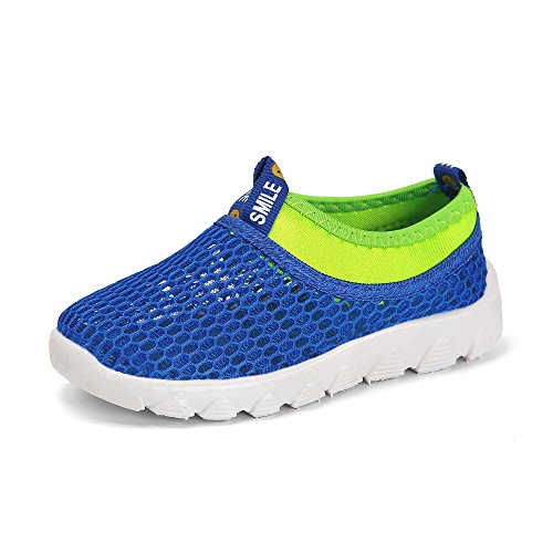 Price comparison product image BTDREAM Boy and Girl's Aqua Shoes Breathable Slip-On Casual Sneakers For Running Pool Beach Blue Size 29(Toddler/Little Kid)