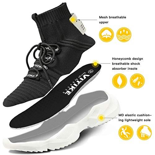 Littleplum Men'sWomen'sWalkingShoesRunningSocksPlatformFashionMeshSneakersAirCushionAthleticGymCasualLoafersDanceHip-hopShoes