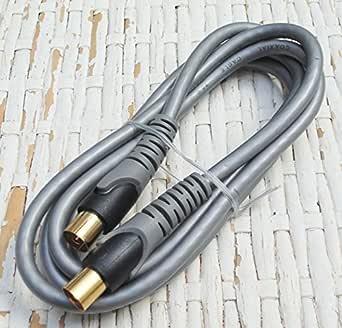 Conexión antena TV de alta calidad Gris/Dorado 3 m Electro Dh ...