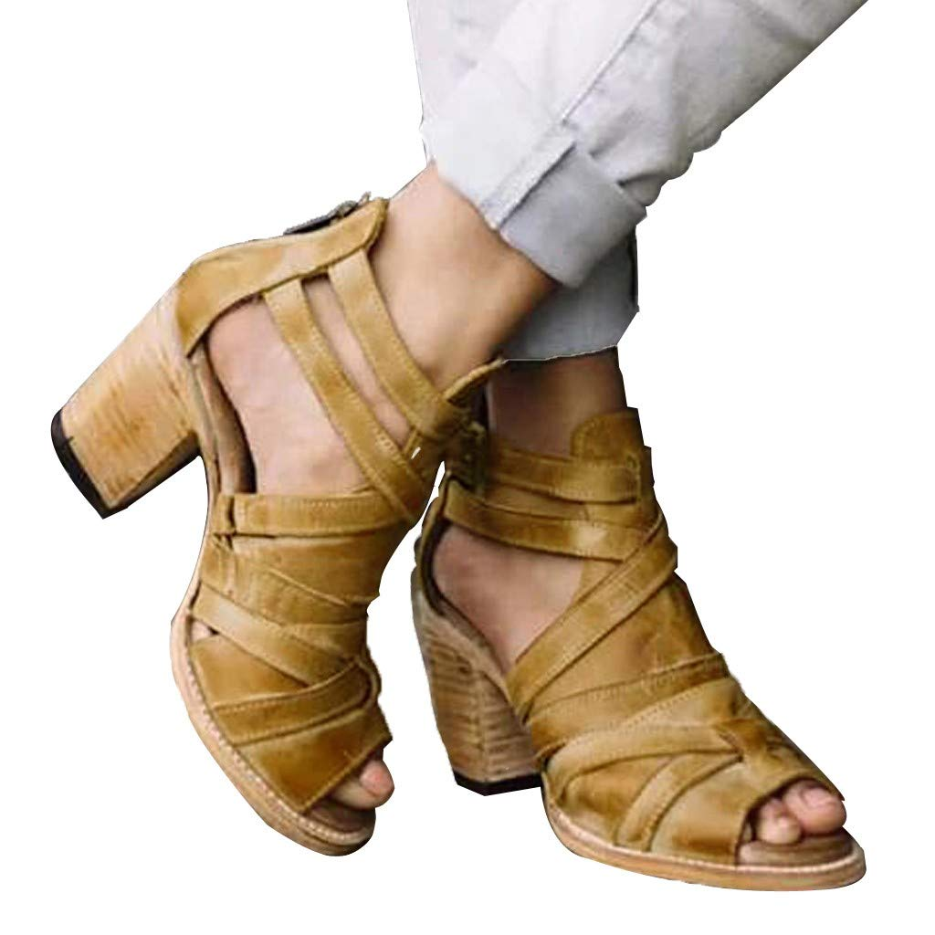 Lolittas Gladiator Summer Sandals Women Ladies Mid Heeled Open Toe Strappy Shoes Roman Peep Toe Comfy Fit Lace UP Leather Cushion Size 3-7