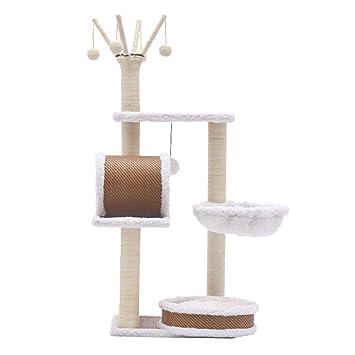 Árbol de gato Cat Tree Activity Center Sisal Wood Cat Toy Jumping Cat House Rattan: Amazon.es: Hogar