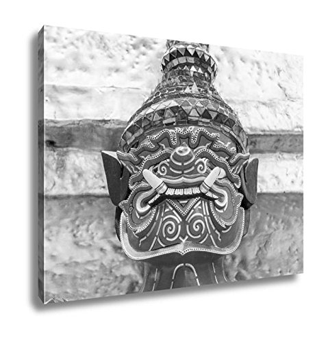 Ashley Canvas Old Faithful Close Up Thai Giant Statue Golden Pagodat Grand, Wall Art Home Decor, Ready to Hang, Black/White, 16x20, AG5593660 by Ashley Canvas