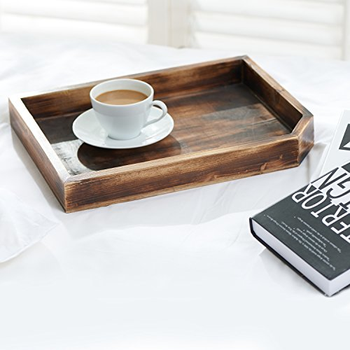 Vintage Wooden Coffee Table Display Tray/Wood Magazine And
