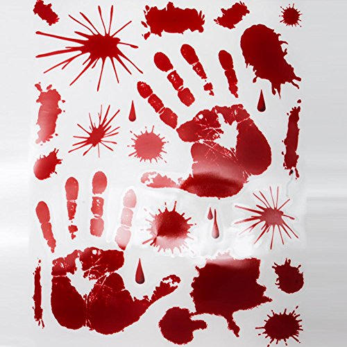 (Beistle Bloody Handprint Clings, 12-Inch by 17-Inch Sheet (01035))