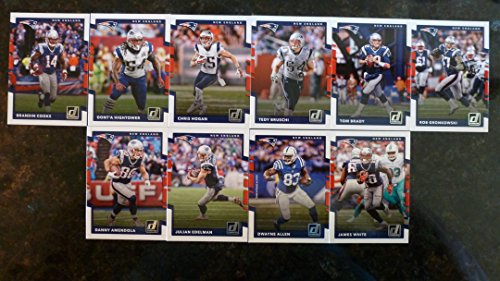 2017 Donruss Football New England Patriots Team Set - 10 Cards - Tom Brady, Brandin Cooks, Hogan, Amendola, White, Gonkowski, and many more