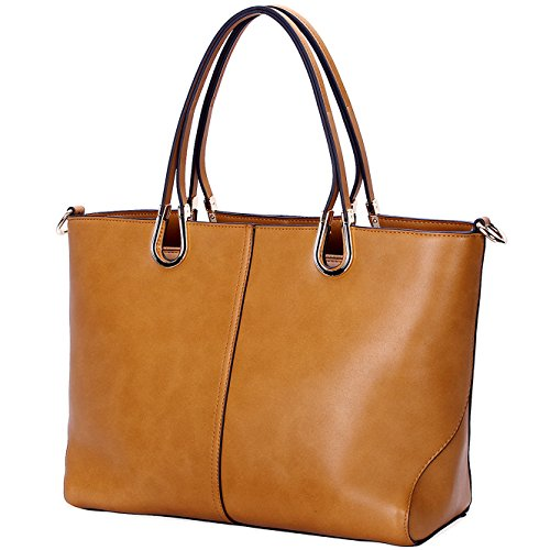 Designer Handbags for Women,Large Tote Bag for Work,Top Handle Purse Shoulder Bags by YAAMUU[L0005/brown]