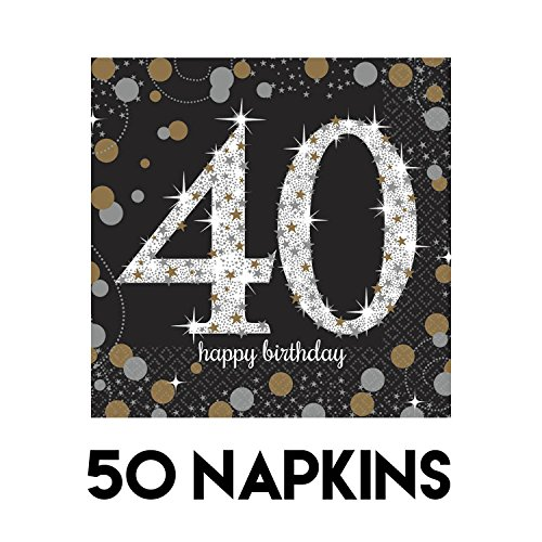Sparkling Celebration 40 Beverage Paper Napkins Value Pack (50 -
