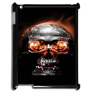 Ipad2,3,4 Fire skulls Phone Back Case DIY Art Print Design Hard Shell Protection YT067452