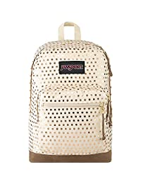 JanSport Right Pack Expressions - Mochila ligera para portátil de 15 pulgadas, Gold Polka Dot, One_Size