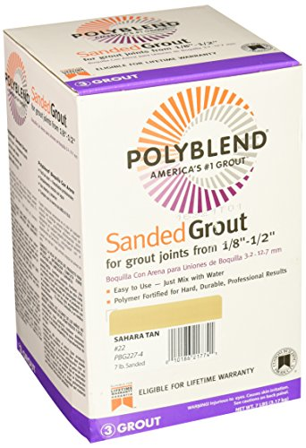 Custom Building Products PBG227-4 22 Polyblend Sanded Tile Grout, 7-Pound, Sahara Tan