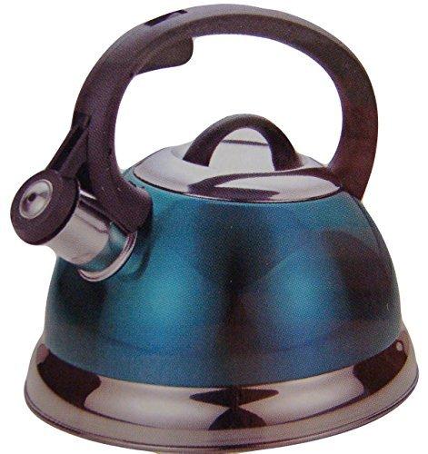 - 2.5 Qt Whistling Tea Kettle in Teal