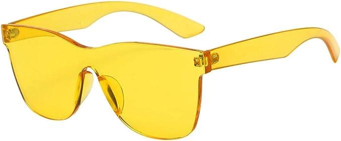 Occhiali da Sole Vintage,WQIANGHZI Vogue Donna Uomo Polarizzati Oversize Square Sunglasses qualit/à Ultra Protezione UV 400 AllAperto Spiaggia Vista