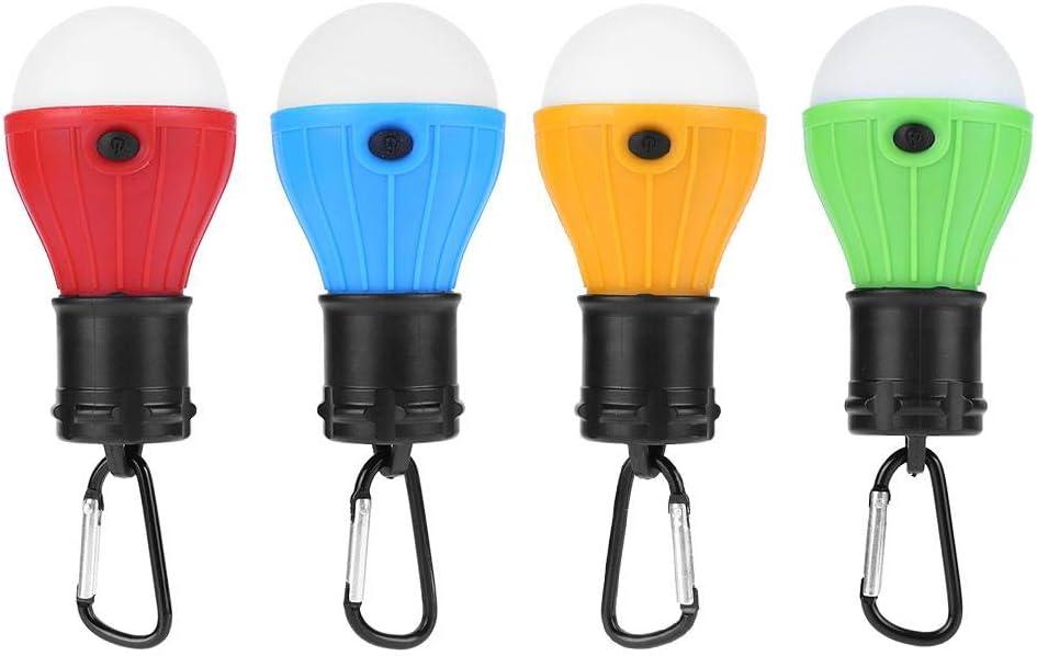 katsuya 4 bombillas LED colgantes para tienda de campaña, para senderismo, con mosquetón