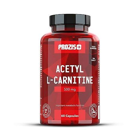 Prozis 100% Acetyl L-Carnitine Capsules 500mg: Suplemento de aminoácidos de alta calidad