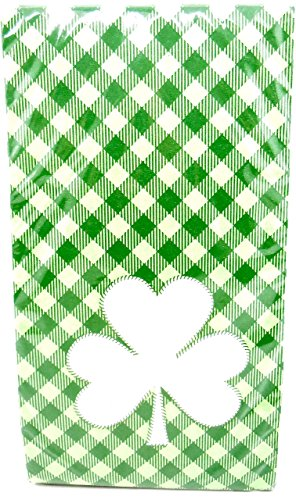 Jo-ann's Happy St.Patrick's Day Napkins,Green Plaid,Large Shamrock,15 2/3
