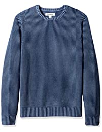 Men's Soft Cotton Rib Stitch Crewneck Sweater