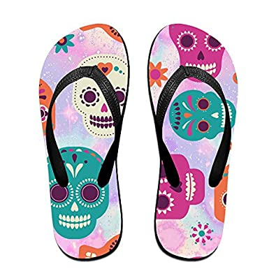 70581ac735974d durable modeling Mexico Day Of The Dead Unisex Fashion Beach Slipper Indoor  And Outdoor Classical Flip