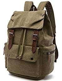 Tatuer Laptop School Backpack Sports Canvas Backpack (Army Green)