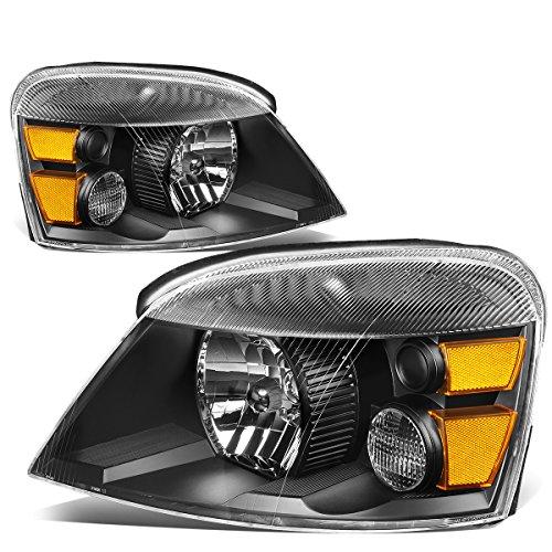 For 04-07 Ford Freestar/Mercury Monterey Black Housing Amber Corner Headlights/Lamps - Pair