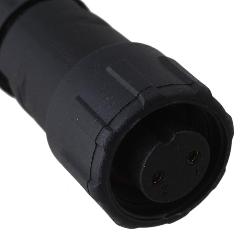 CNBTR Noir IP68 /¨/¦tanche 2 Broches Connecteur /¨/¦lectrique Prise