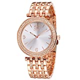 Women Watches Girl Stainless Steel Wrist Watch Fashion Jewelry Round Dial Bracelet Watch